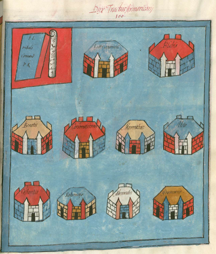 Frontpiece showing towns