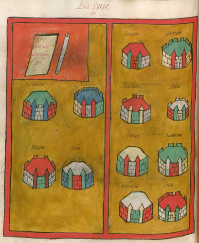 Frontpiece showing forts