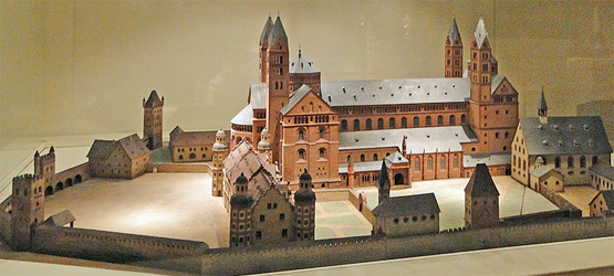 Speyer Cathedral model